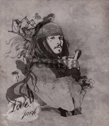 Фотообои, фреска Пират карибского моря, арт. 9240