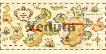 Фотообои, фреска Карта островов, арт. 9541