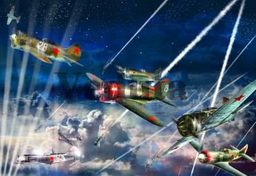 Фотообои, фреска Советские истребители, арт. 9552