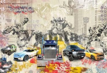 Фотообои, фреска Трансформеры машины, арт. 9658