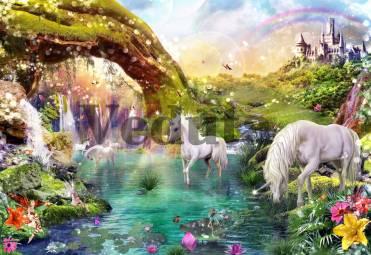 Фотообои, фреска Единороги у озера, арт. 9661