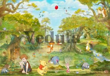 Фотообои, фреска Винни пух и его друзья на поляне, арт. 9677