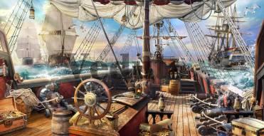 Фотообои, фреска Палуба старинного корабля, арт. 9680