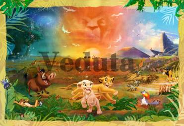 Фотообои, фреска Коллаж король лев, арт. 9681
