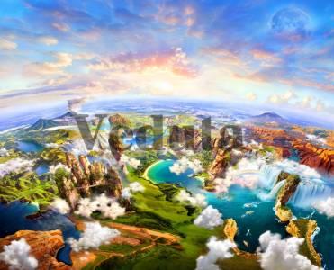 Фотообои, фреска Сказочный вид с высоты, арт. 9696