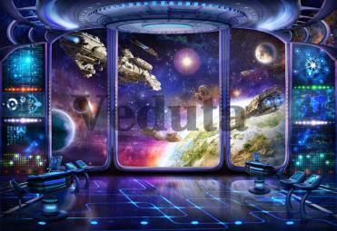 Фотообои, фреска Рубка космического корабля, арт. 9697