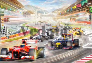 Фотообои, фреска Формула 1, арт. 9718