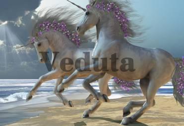 Фотообои, фреска Единороги на берегу, арт. ID11933
