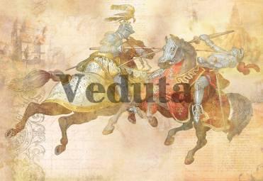 Фотообои, фреска Рыцарский бой, арт. ID12614