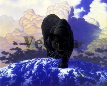 Фотообои, фреска Черная пантера, арт. 3276