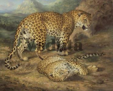 Фотообои, фреска Леопарды, арт. 3362