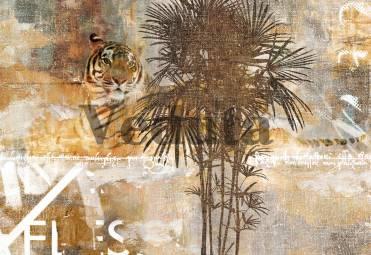 Фотообои, фреска Сюжет с тигром, арт. 7034
