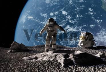 Фотообои, фреска Астронавт на луне, арт. ID10839