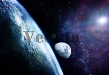 Фотообои, фреска Земля и луна, арт. ID10849