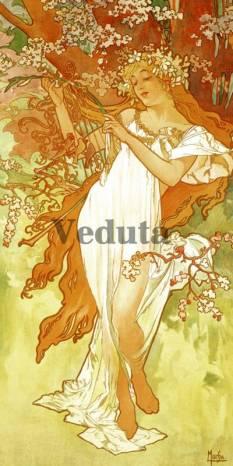 Фотообои, фреска Весна Альфонс Муха, арт. 3100