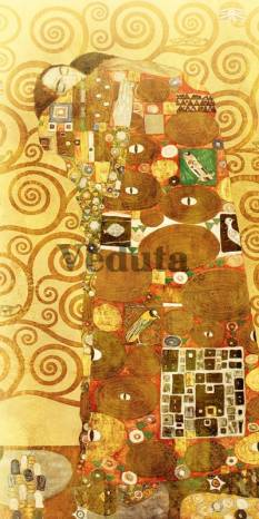 Фотообои, фреска Объятия фрагмент картины, арт. 3286