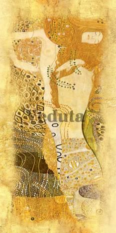 Фотообои, фреска Водяные змеи Густав Климт, арт. 3295