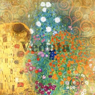 Фотообои, фреска Цветы поцелуй, арт. 3296