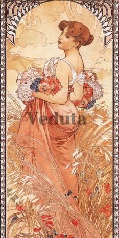 Фотообои, фреска Лето Альфонс Муха, арт. 3298