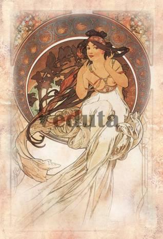 Фотообои, фреска Искусство Альфонс Муха, арт. 3300
