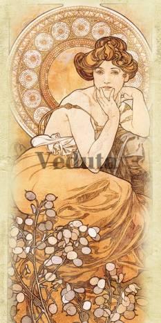 Фотообои, фреска Топаз Альфонс Муха, арт. 3302