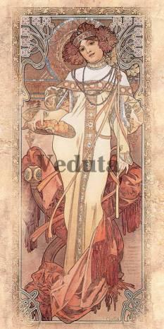 Фотообои, фреска Осень Альфонс Муха, арт. 3304