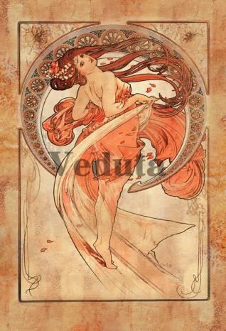 Фотообои, фреска Танец Альфонс Муха, арт. 3305