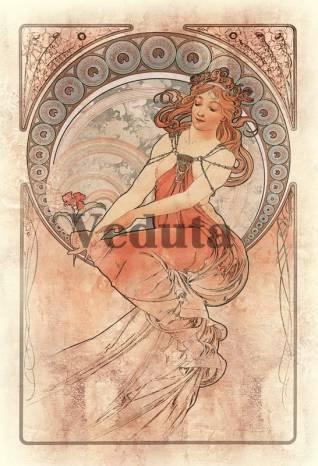 Фотообои, фреска Живопись Альфонс Муха, арт. 3306