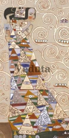 Фотообои, фреска Ожидания Густав Климт, арт. 3400