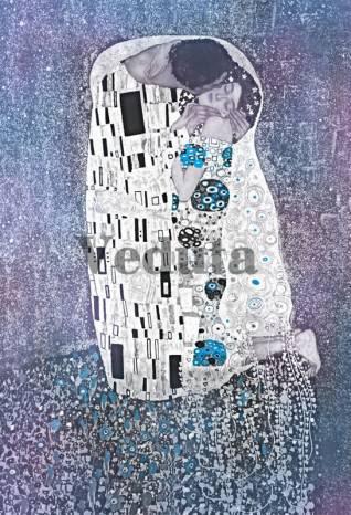 Фотообои, фреска Поцелуй Густава Климта, арт. 3406