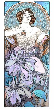 Фотообои, фреска Рубин Муха, арт. 3412