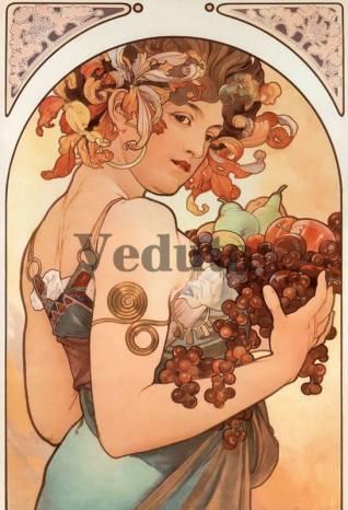 Фотообои, фреска Произведение Альфонса Мухи, арт. 3414