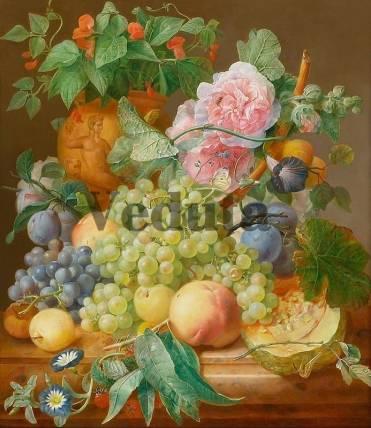 Фотообои, фреска Виноград цветы, арт. 2003