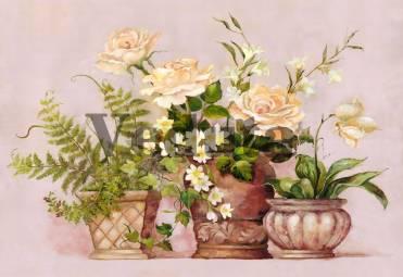 Фотообои, фреска Цветы в горшках, арт. 2094
