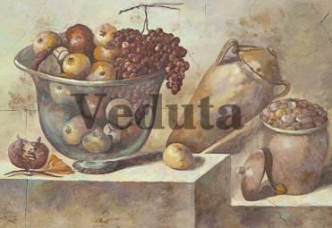 Фотообои, фреска Фрукты в кувшинах, арт. 2132