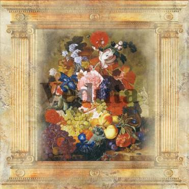 Фотообои, фреска Коллаж с цветами, арт. 2144