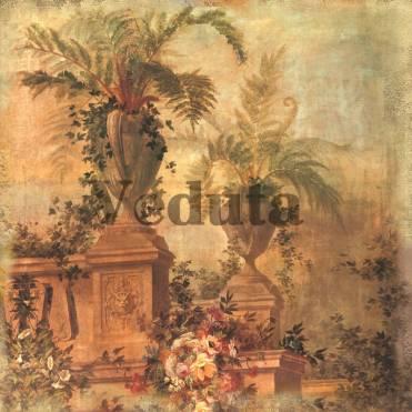 Фотообои, фреска Вазоны с цветами в парке, арт. 2145