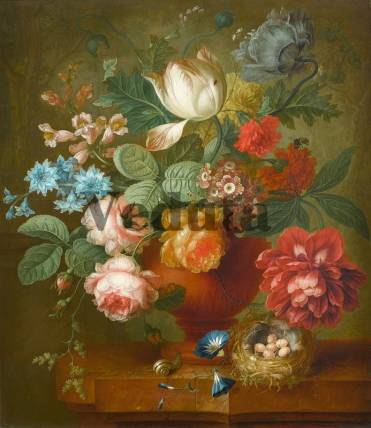 Фотообои, фреска Горшок с цветами, арт. 2192