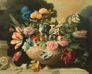 Фотообои, фреска Красивая ваза с цветами, арт. 2203