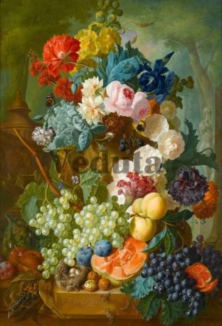 Фотообои, фреска Фрукты цветы, арт. 2205