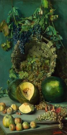 Фотообои, фреска Натюрморт с дыней, арт. 2213