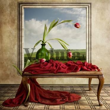 Фотообои, фреска Картина с тюльпанами, арт. ID12458