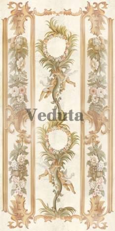 Фотообои, фреска Вертикальный растительный фриз, арт. 5197