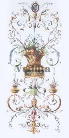 Фотообои, фреска Орнамент с вазой, арт. 5206