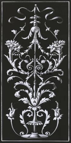Фотообои, фреска Классический растительный фриз, арт. 5207