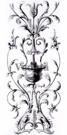 Фотообои, фреска Вертикальный классический фриз, арт. 5208