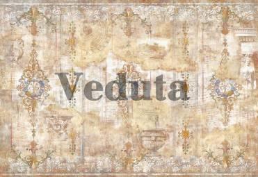 Фотообои, фреска Состаренная стена с орнаментом, арт. 7180