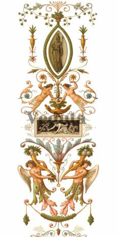 Фотообои, фреска Классический вертикальный фриз, арт. ID13557