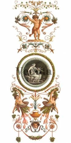 Фотообои, фреска Вертикальный фриз с фигурами, арт. ID135558