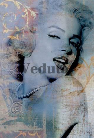 Фотообои, фреска Улыбка Мерлин Монро, арт. A0117